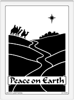 Dreamweaver Large Metal Stencil - Large Peace on Earth