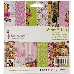 Dress My Craft - Whimsical Hues 6x6 Cardstock Pad