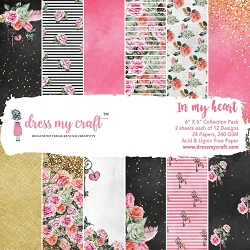 Dress My Craft - In My Heart 6x6 Cardstock Pad