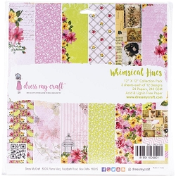 Dress My Craft - Whimsical Hues 12x12 Cardstock Pad