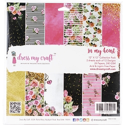 Dress My Craft - In My Heart 12x12 Cardstock Pad