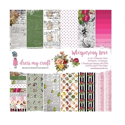 Dress My Craft - Whispering Love 6x6 Cardstock Pad