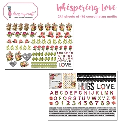 Dress My Craft - Whispering Love Motif Sheets