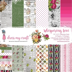 Dress My Craft - Whispering Love 12x12 Cardstock Pad