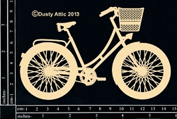 Dusty Attic Chipboard - Bicycle