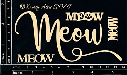 Dusty Attic Chipboard - Meow Meow