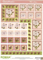 Dutch 3-D Decoupage Papers - Romak Cards - 8 1/4