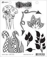 Dylusions - Cling Rubber Stamps - Doodle Parts