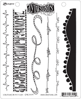 Dylusions - Cling Rubber Stamps - Bordering On The Edge