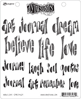 Dylusions - Cling Rubber Stamps - Word Love