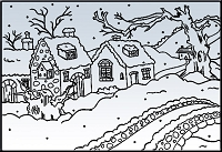 Nellie Snellen Embossing Folder - Snow Cottage