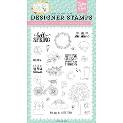 Echo Park - Hello Spring Collection - Spring Showers Clear Stamps