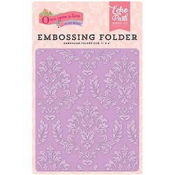 Echo Park - Embossing Folder - Once Upon A Time Princess - Enchanted Damask