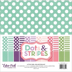 Echo Park - Dots & Stripes Collection - Little Girl Dots & Stripes Pack
