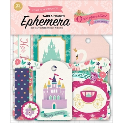 Echo Park - Once Upon A Time Princess Collection - Die Cut Tags & Frames