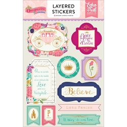 Echo Park - Once Upon A Time Princess Collection - Layered Stickers