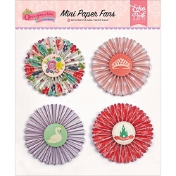 Echo Park - Once Upon A Time Princess Collection - Mini Paper Fans