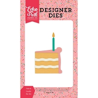 Echo Park - Designer Dies - Party Time Cake & Candle