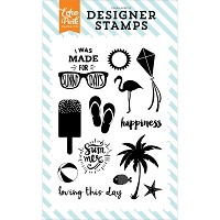 Echo Park - Summer Party Collection - Sunny Days Clear Stamps