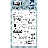 Echo Park - A Dog's Tail Collection - Lucky Dog Clear Stamps