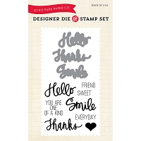 Echo Park - Designer Die & Clear Stamp Combo Set - Everyday Sentiments