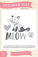 Echo Park - Meow Collection - Cat's Meow Die Set