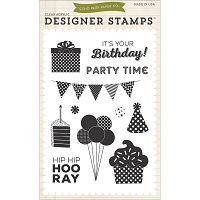 Echo Park - Designer Clear Stamps - Birthday Wishes Party