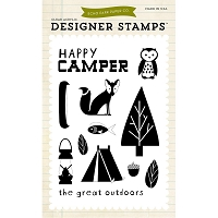 Echo Park - Designer Clear Stamps - Happy Camper