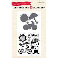 Echo Park - Designer Die and Stamp Set - Bloom Where You're Planted