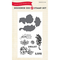 Echo Park - Designer Die and Stamp Set - Things Grow Better with Love