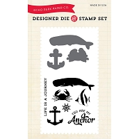 Echo Park - Designer Die and Stamp Set - Down by the Sea
