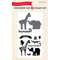 Echo Park - Designer Die and Stamp Set - At the Zoo