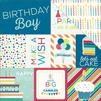 Echo Park - Birthday Wishes Collection - Boy Journaling Cards
