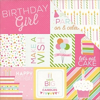 Echo Park - Birthday Wishes Collection - Girl Journaling Cards
