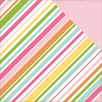 Echo Park - Birthday Wishes Collection - Girl Stripes
