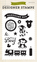 Echo Park - Bundle Of Joy A New Addition Collection - It's A Boy Clear Stamp Set :)