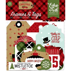 Echo Park - Celebrate Christmas Collection - Die Cut Tags & Frames