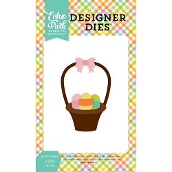 Echo Park - Designer Dies - Celebrate Easter Easter Basket & Eggs Die set