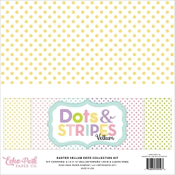 Echo Park - Dots & Stripes Collection - Easter Dots & Stripes Vellum Pack