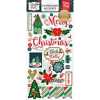 Echo Park - Deck The Halls Collection - 6x12 Chipboard (foiled)