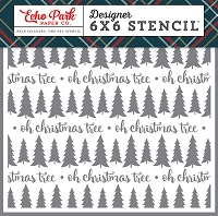 Echo Park - 6x6 Stencil - Deck The Halls Oh Christmas Tree