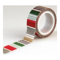 Echo Park - Deck The Halls Collection - Decorative Tape - Holiday Stripe