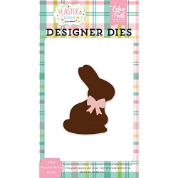 Echo Park - Easter Wishes Collection - Solid Chocolate Bunny Die Set