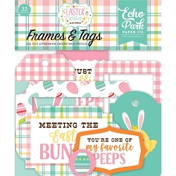Echo Park - Easter Wishes Collection - Die Cut Tags & Frames