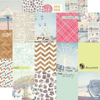 Echo Park - 12x12 Paper - Everyday Eclectic Collection - Journaling Cards (Full pack of 25)