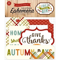 Echo Park - Fall Is In The Air Collection - Die Cut Tags & Frames Ephemera