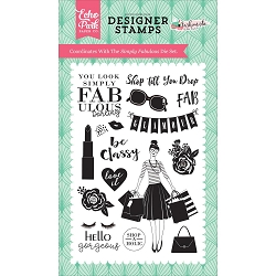 Echo Park - Fashionista Collection - Simply Fabulous Clear Stamps