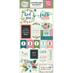 Echo Park - Have Faith Collection - 6x12 Chipboard Accents