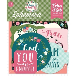 Echo Park - Have Faith Collection - Die Cut Ephemera