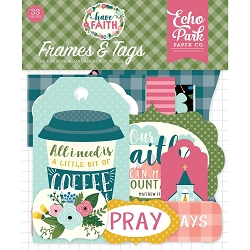 Echo Park - Have Faith Collection - Die Cut Tags & Frames